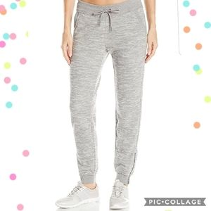 Calvin Klein knit grey joggers with zipper ankles
